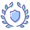 achievement, award, protection, shield