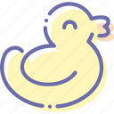 baby, bath, duck, rubberduck