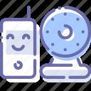 baby, camera, infrared, monitor icon