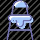 baby, chair, feeding, kitchen