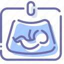 baby, diagnostics, medicine, ultrasound icon