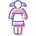 doll, girl, princess, toy icon