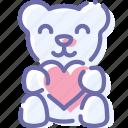 bear, love, teddy, toy