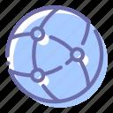 earth, globe, network, web