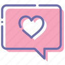 bubble, chat, love, message icon