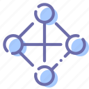 full, network, social, topology icon