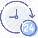 clock, support, time, work icon