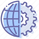 global, internet, process, settings icon