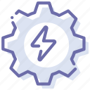 energy, gear, generation, process icon