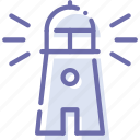 guide, lighthouse, navigation, sea icon