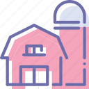 barn, farm, silo, storehouse icon