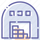 building, storage, storehouse, warehouse icon