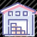building, storage, storehouse, warehouse icon
