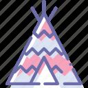 camp, wigwam, tent