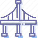 bridge, construction, transport