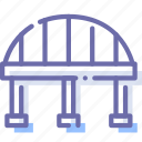 bridge, construction, transport icon