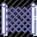 fence, garden, metal