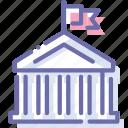 bank, banking, city, hall icon