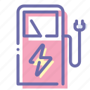 charge, electric, power, station icon