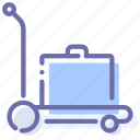 baggage, luggage, service, transport icon