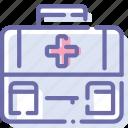 aid, briefcase, first, medicine icon