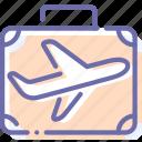 flight, luggage, travel, trip