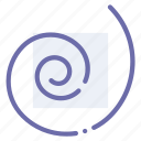 draw, path, spiral, tool icon