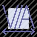 design, edit, text, tracking icon