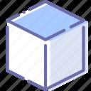 cube, edge, tool, top icon
