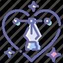 design, heart, love, tool icon