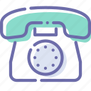 call, disc, phone, stationary icon