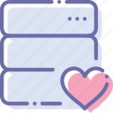 data, database, love, server icon