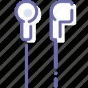 ear, headphones, in, plug icon