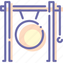 audio, gong, instrument, music
