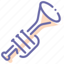 fife, instrument, musical, trumpet icon