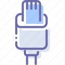 cable, charge, connector, lightning icon