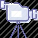 camcorder, camera, device, video icon