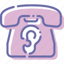 device, ear, listening, phone icon