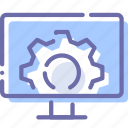 device, gear, settings, television icon