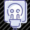 cord, socket, electricity, plug icon