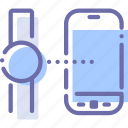 connection, phone, sync, watch icon
