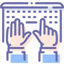 hands, laptop, type, work