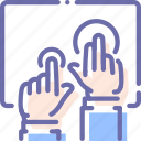 hands, multitouch, tablet, touch icon