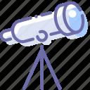 astronomy, lens, stars, telescope icon