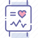 fitband, health, smart, watch icon
