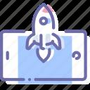 app, mobile, rocket, start icon