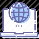 internet, language, laptop, study icon