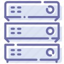 database, hosting, rack, server