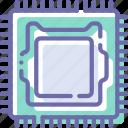 computer, hardware, microchip, processor icon