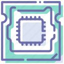 chip, computer, hardware, processor icon